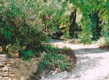 entrée par le jardin